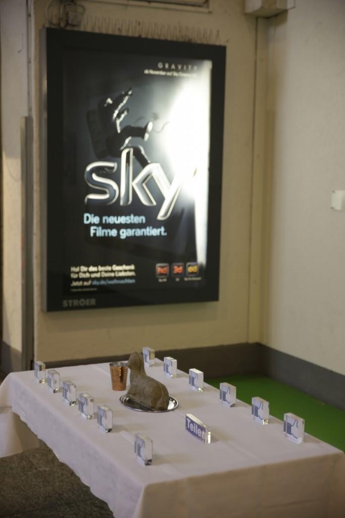 Teilen vor Sky-Werbung