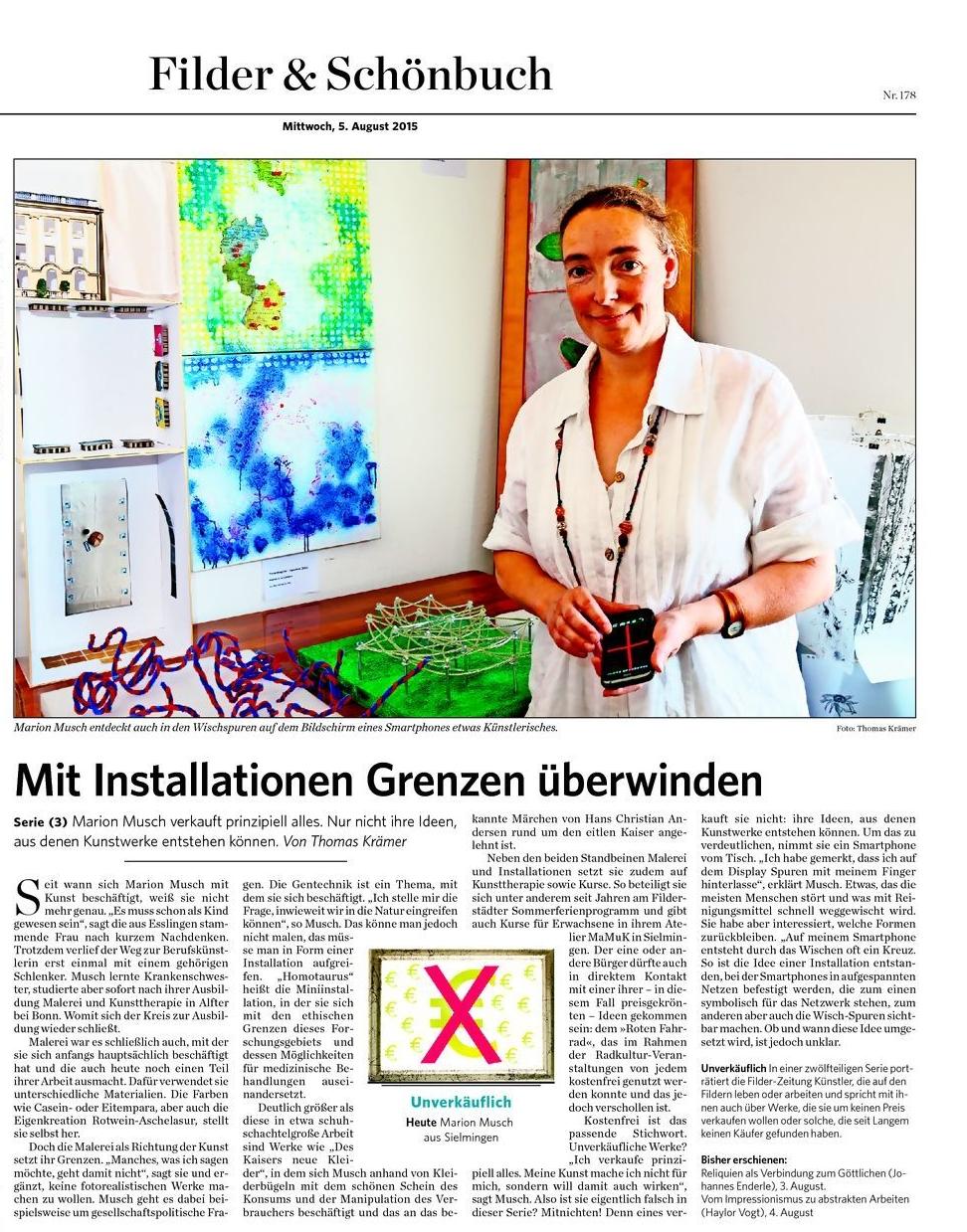 Filder Zeitung vom 05.08.2015